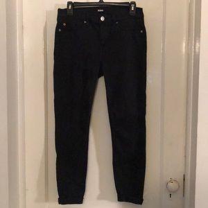 Hudson black cropped jean